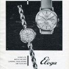 Eloga Watch Company Switzerland Vintage 1965 Swiss Ad Suisse Advert Horlogerie