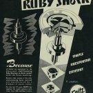 1954 Seitz Ruby Shock Watch Parts Company Switzerland Vintage 1954 Swiss Ad Suisse Advert