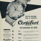 Cortebert Watch Company Switzerland Vintage 1954 Swiss Ad Suisse Advert Spirofix