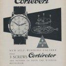 Cortebert Watch Company 1954 Swiss Ad Suisse Advert La Chaux-de-Fonds Switzerland