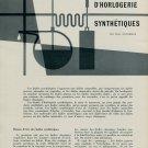 Les Huiles d'Horlogerie Synthetiques - by Paul Ducommun 1956 Swiss Magazine Article Horology Suisse