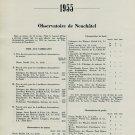 1955 Resultats des Observations et Concours Chronometres Observatoires Suisses