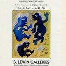 Carlos Merida Vintage 1986 Art Exhibition Ad Advert B Lewin Galleries