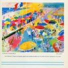 Le Roy Neiman La Plage a Deauville 1986 Art Ad Advert Advertisement Leroy Neiman