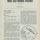 1957 Girard-Perregaux Watch Co. Gyromatic Assembly + Info 1957 Swiss Magazine Article