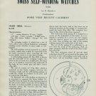Omega Watch Company No. 470 No. 455 Assembly Info Instruction 1957 Magazine Swiss Article