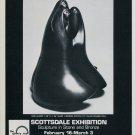 Sculptor Allan Houser Vintage 1984 Art Exhibition Ad New Gossip Advert
