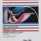 Moser Vintage 1984 Art Exhibition Ad Dyansen Gallery of SoHo Nocturnes Advert