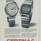 Certina Watch Company Vintage 1977 Swiss Ad Suisse Advert Horlogerie Horology