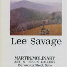 Lee Savage 1984 Art Ad Advert Hudson River Landscape Advertisement