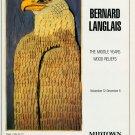 Bernard Langlais Vintage 1986 Art Exhibition Ad Advert Eagle Midtown Galleries
