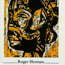 Roger Herman Vintage 1986 Art Ad Advert Mode Production Advertisement
