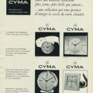 Cyma Watch Company 1965 Swiss Ad Suisse Advert La Chaux-de-Fonds Switzerland