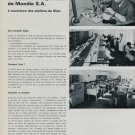 1968 Mondia Watch Company Une Nouvelle Expansion Mondia 1968 Swiss Magazine Article Horlogerie