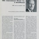 1968 IWC Le Centenaire de International Watch Co. 1968 Swiss Magazine Article