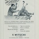 F Witschi Company Switzerland 1954 Swiss Ad Suisse Advert Horlogerie Horology