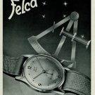 1951 Felca Watch Company Switzerland Vintage 1951 Swiss Ad Suisse Advert