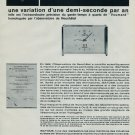 1964 Voumard Clock Company Switzerland Isatome Vintage 1964 Swiss Ad Suisse Advert