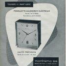1964 Montremo Clock Company Switzerland Vintage 1964 Swiss Ad Suisse Advert Horology