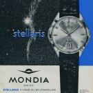 1964 Mondia Watch Company Mondia Stellaris Advert Vintage 1964 Swiss Ad Suisse Advert