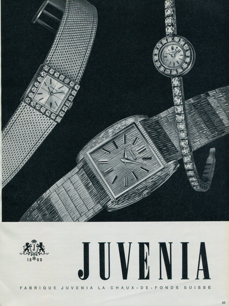 1964 Juvenia Watch Company Switzerland Vintage 1964 Swiss Ad Suisse Horlogerie Advert
