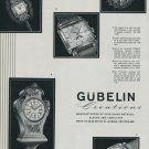 1951 Gubelin Watch Company Lucerne Switzerland Vintage 1951 Swiss Ad Suisse Advert