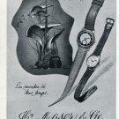 1951 Hy. Moser & Cie Watch Company Vintage 1951 Swiss Ad Suisse Advert Horlogerie Horology