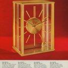 Arthur Imhof Clock Company Vintage 1974 Swiss Ad Suisse Advert Horlogerie Switzerland