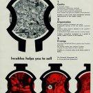 1957 Incabloc Universal Escapement Company Vintage 1957 Swiss Ad Suisse Advert Horlogerie Horology