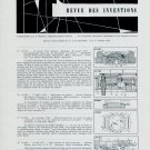 1958 Swiss Horology Patents Brevets Suisses Horlogerie 1959 Magazine Clipping