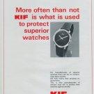 1977 KIF Parechoc SA Company Switzerland Vintage 1977 Swiss Ad Suisse Advert Horlogerie Horology