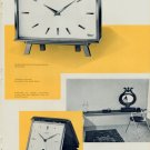 1959 La Pendulette Dans L'Habitation Moderne 1959 Swiss Magazine Article Horology