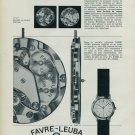 1963 Favre Leuba Watch Company Switzerland FL 251 Vintage 1963 Swiss Ad Suisse Advert