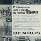 1963 Benrus Watch Company Switzerland Vintage 1963 Swiss Ad Suisse Advert Horology Horlogerie