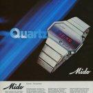1976 Mido Watch Company Bienne Switzerland Vintage 1976 Swiss Ad Suisse Advert Horology Horlogerie