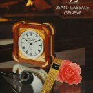 1976 Jean Lassale Watch Company Bouchet-Lassale SA Switzerland Vintage 1976 Swiss Ad Suisse Advert