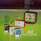 1976 JAZ Clock Company Jaz Electronic Paris Vintage 1976 Swiss Ad Suisse Advert Horlogerie Horology