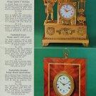 1976 Reuge Music Clock Company Sainte Criox Switzerland Vintage 1976 Swiss Ad Suisse Advert