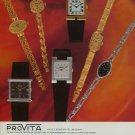 1976 Provita Watch Company Germany Switzerland 1976 Swiss Ad Suisse Advert Horlogerie Horology