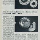 1976 Tissot Watch Company Calibre Tissot 2780 1976 Swiss Magazine Article Suisse