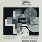 1967 Foire Suisse d'Echantillons Bale Swiss Watch Fair Swiss Ad Suisse Advert Horlogerie Horology