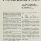 1967 Prognostics Japonaise et Realites 1967 Swiss Magazine Article Horlogerie Horology