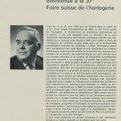 1967 Foire Suisse de L'Horlogerie Swiss Watch Fair Magazine Article Horology Bale Basle Switzerland