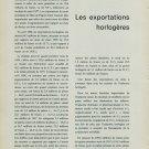 1958 Les Exportations Horlogeres Mars et Avril 1958 Swiss Magazine Article Horlogerie Horology
