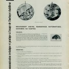 1958 A. Schild Watch Company 1361 Technique et Pratique Swiss Magazine Article Horlogerie Horology