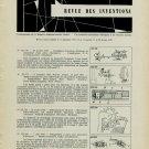 1957 1958 Revue des Inventions L'Horlogerie et les Branches Annexes Horology Horlogerie