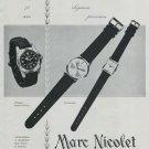 1964 Marc Nicolet Watch Company Switzerland Vintage 1964 Swiss Ad Suisse Advert Horlogerie Horology