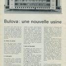 1965 Bulova Une Nouvelle Usine a Neuchatel 1965 Swiss Magazine Article Horlogerie Horology