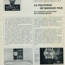 1965 Mondia Watch Company La Politique de Marque Paie Swiss Magazine Article Horlogerie Horology