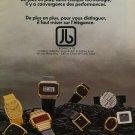 J. Bonnet & Cie Switzerland Vintage 1976 Swiss Ad Suisse Advert Horlogerie Horology